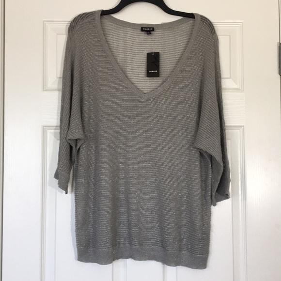 NEW TORRID Open Knit Sweater Top